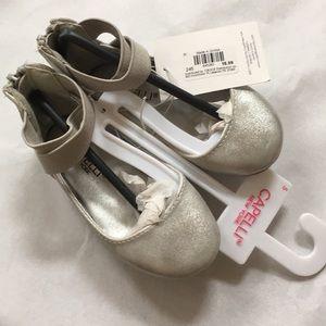 5 BALLET FLATS metallic silver shoes NEW CAPELLI